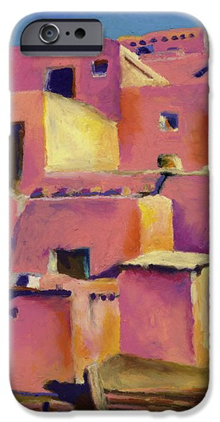 House Pastels iPhone Cases - Timeless Adobe iPhone Case by Stephen Anderson