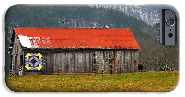 Red Roofed Barn iPhone Cases - Timeless iPhone Case by Michael Eingle