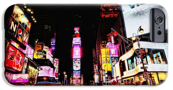 Police Art iPhone Cases - Times Square iPhone Case by Andrew Paranavitana