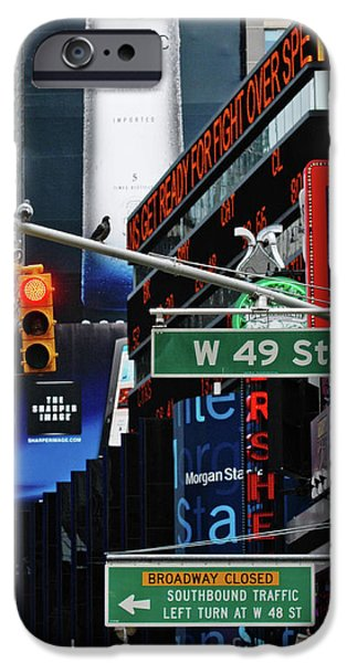 Hershey iPhone Cases - Times Square Lights and Signs iPhone Case by Anahi DeCanio Photography
