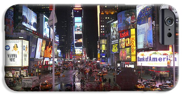 Times Square iPhone Cases - Times Square iPhone Case by Mike McGlothlen