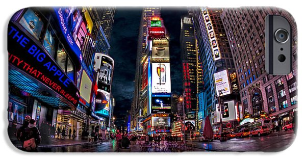 Empire State iPhone Cases - Times Square New York City The City That Never Sleeps iPhone Case by Susan Candelario