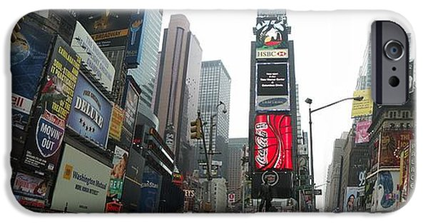 Business Digital iPhone Cases - Times Square iPhone Case by Nomad Art And  Design