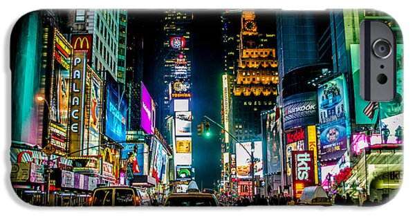 Nyc iPhone Cases - Times Square NYC iPhone Case by Johnny Lam