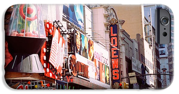 Board iPhone Cases - Times Square, Nyc, New York City, New iPhone Case by Panoramic Images