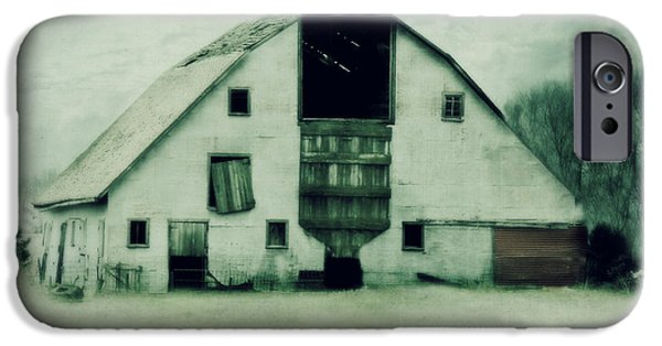 Monotone iPhone Cases - Tin barn iPhone Case by Julie Hamilton