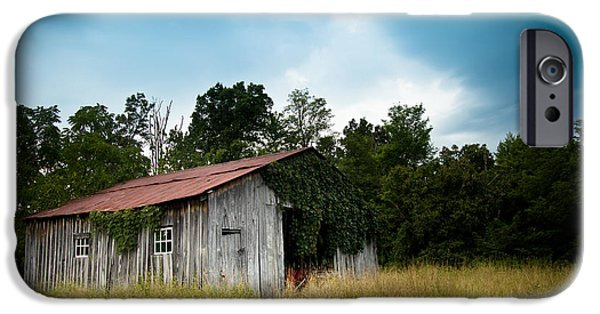 Barns iPhone Cases - Tin Roof...ivy Covered Barn iPhone Case by Shane Holsclaw