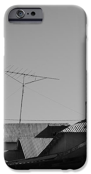 Tin Rooftops Chimayo New Mexico iPhone Case by David Gordon