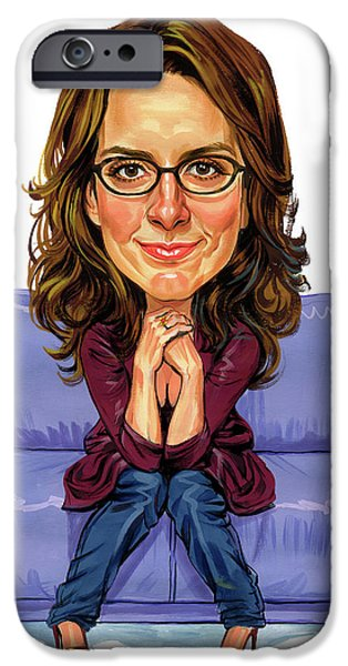 Comedian iPhone Cases - Tina Fey iPhone Case by Art