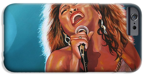 King Of Pop iPhone Cases - Tina Turner 3 iPhone Case by Paul  Meijering
