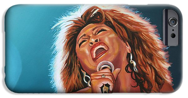 Private iPhone Cases - Tina Turner 3 iPhone Case by Paul Meijering