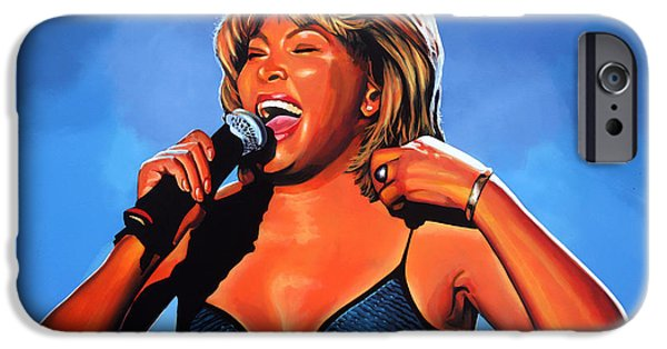 The King Of Pop iPhone Cases - Tina Turner Queen of Rock iPhone Case by Paul  Meijering