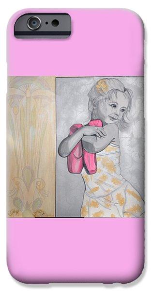 Ballet Dancers iPhone Cases - Tiny Dancer iPhone Case by Darlene Graeser