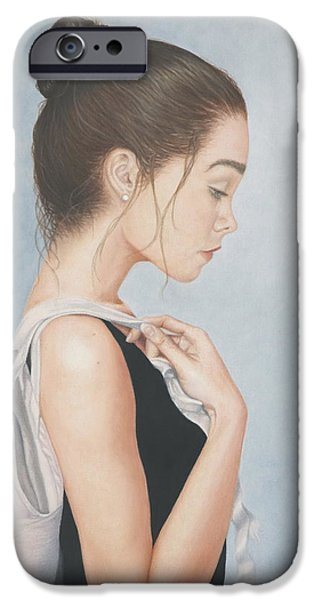 Ballet Dancers iPhone Cases - Tiny Dancer iPhone Case by Dee Dee  Whittle