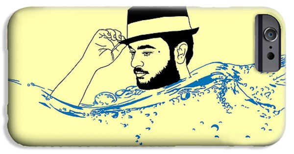 Beauty Mark Digital iPhone Cases - Tip of the Hat iPhone Case by Sinder Singh