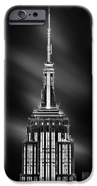 Empire State iPhone Cases - Tip Of The World iPhone Case by Az Jackson