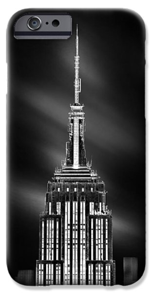 Empire State Building iPhone Cases - Tip Of The World iPhone Case by Az Jackson