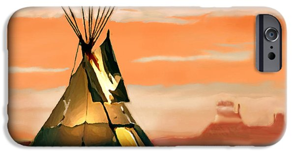 Historic Site iPhone Cases - Tipi or TePee Monument Valley iPhone Case by  Bob and Nadine Johnston