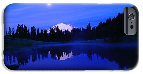 Moonscape iPhone Cases - Tipsoe Lake In The Morn  iPhone Case by Jeff  Swan