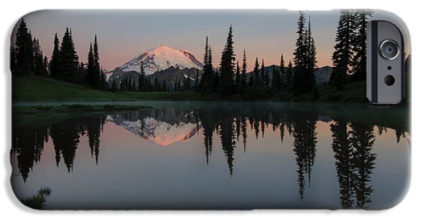 Reflection Lake iPhone Cases - Tipsoo Dawn iPhone Case by Mike  Dawson
