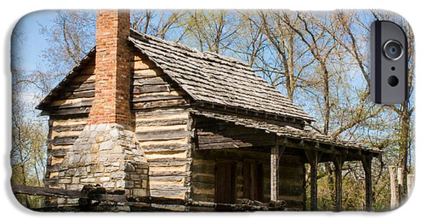 Cabin Corner iPhone Cases - Tipton Hayes Log Cabin 10 iPhone Case by Douglas Barnett