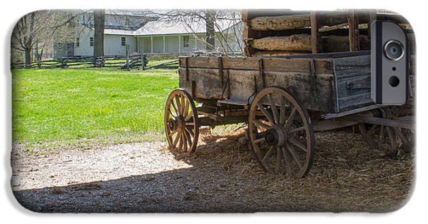 Cabin Corner iPhone Cases - Tipton Hayes Wagon 1 iPhone Case by Douglas Barnett