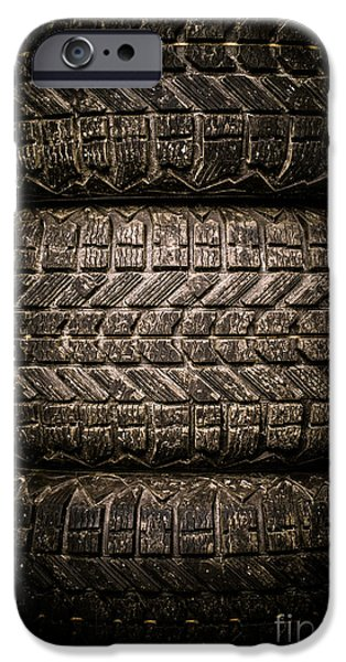 Dirt iPhone Cases - Tires iPhone Case by Edward Fielding