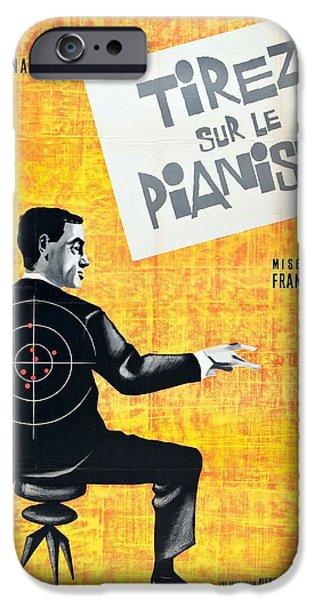 Crime Drama Movie iPhone Cases - Tirez Sur Le Pianiste - 1960 iPhone Case by Nomad Art And  Design