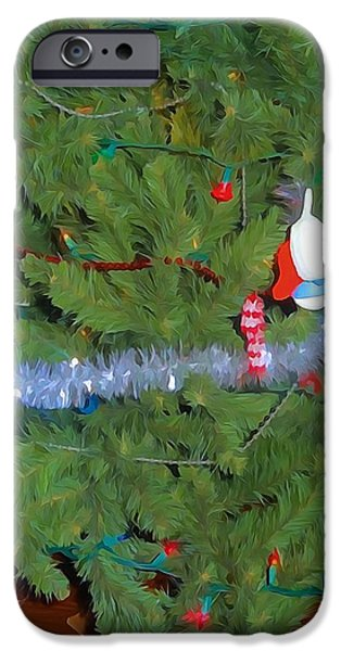 Christmas Eve iPhone Cases - Tis The Season Watercolor iPhone Case by Dan Sproul