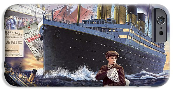 Young Digital Art iPhone Cases - Titanic - Landscape iPhone Case by MGL Meiklejohn Graphics Licensing