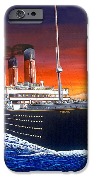 Titanic iPhone Case by David Linton