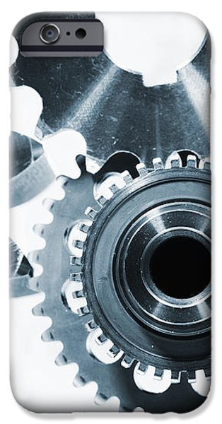 titanium aerospace parts in blue iPhone Case by Christian Lagereek