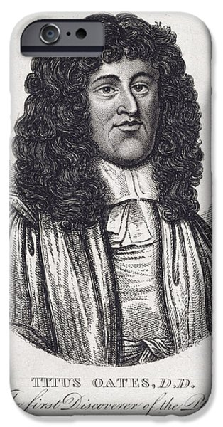 Etc... iPhone Cases - Titus Oates iPhone Case by British Library
