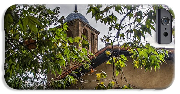 Sedona iPhone Cases - Tlaquepaque Chapel - Sedona AZ iPhone Case by Jon Berghoff