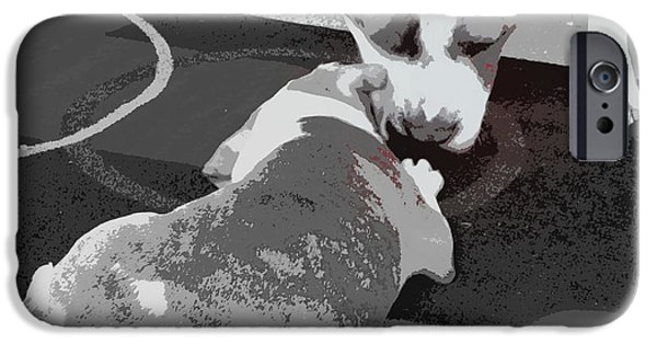 Puppy Love Framed Prints iPhone Cases - To Know A Pit Is To Love iPhone Case by Bobbee Rickard