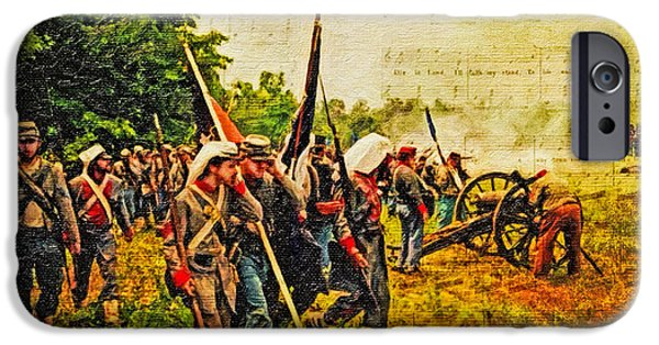 Civil War Re-enactment iPhone Cases - To Live and Die In Dixie iPhone Case by Lianne Schneider