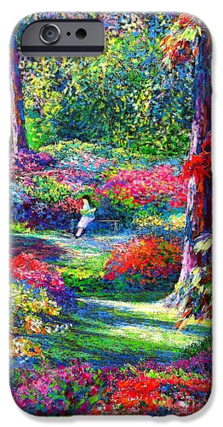 Autumn Trees iPhone Cases - To Read and Dream iPhone Case by Jane Small