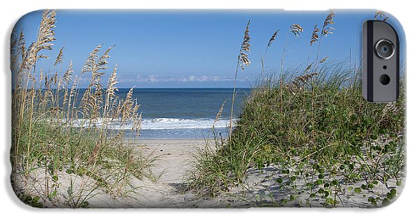 Pathway iPhone Cases - To The Beach iPhone Case by Kay Pickens
