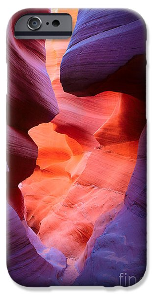 To the Center of the Earth iPhone Case by Inge Johnsson