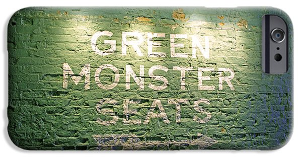Red Sox Red Sox iPhone Cases - To the Green Monster Seats iPhone Case by Barbara McDevitt