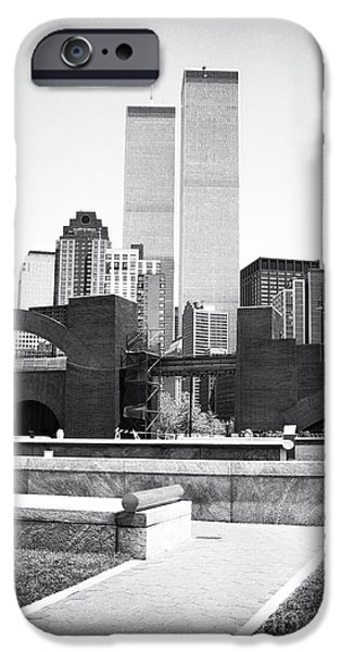 Twin Towers Nyc iPhone Cases - To the Towers 1990s iPhone Case by John Rizzuto
