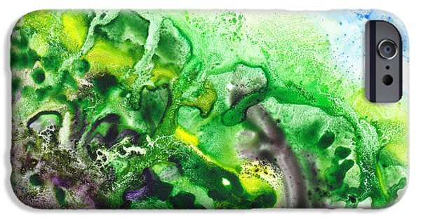 Abstract Movement iPhone Cases - To The Unknown Abstract Path Number Five iPhone Case by Irina Sztukowski