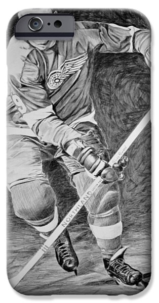 Mr. Hockey iPhone Cases - To you is Mr. Hockey  iPhone Case by Peter Jurik