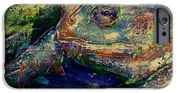 Flies Mixed Media iPhone Cases - Toad You So iPhone Case by D Renee Wilson