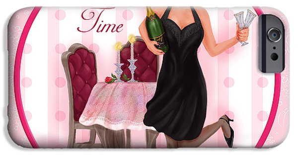 Lady Mixed Media iPhone Cases - Toast Time iPhone Case by Shari Warren