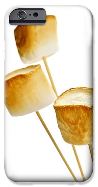 Toasting iPhone Cases - Toasted marshmallows iPhone Case by Elena Elisseeva