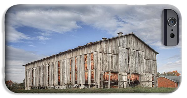 Daviess County Photographs iPhone Cases - Tobacco Barn in Daviess County Kentucky iPhone Case by Wendell Thompson