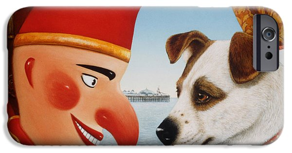 Puppets iPhone Cases - Toby And Punch, 1994 Oils And Tempera On Panel iPhone Case by Frances Broomfield