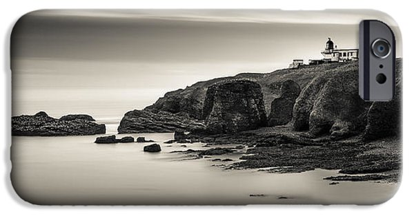 North Sea Photographs iPhone Cases - Tod Head Lighthouse iPhone Case by Dave Bowman