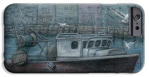 Fishing Pastels iPhone Cases - Todays Catch iPhone Case by Jeanne Beutler
